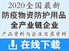 2020全国最新医用防护用品防疫物资类企业产品画册资料企业大全—630家
