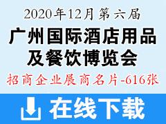 2020年12月第六届广州国际酒店用品及餐饮博览会|高端食品与饮料展览会|广州国际茶饮咖啡美食节展商名片